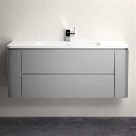 lusso stone fontane matte concrete grey vanity unit
