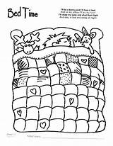 Coloring Pages Night Bed Bedtime Quilt Sheet Cartoon Sheets Printable Quilting Colouring Animal Pattern Bedroom Patterns Worksheets Animals Getcolorings Daycare sketch template
