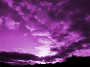 Dark Purple Night Sky