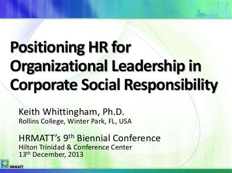 positioning human resources  organisational leadership