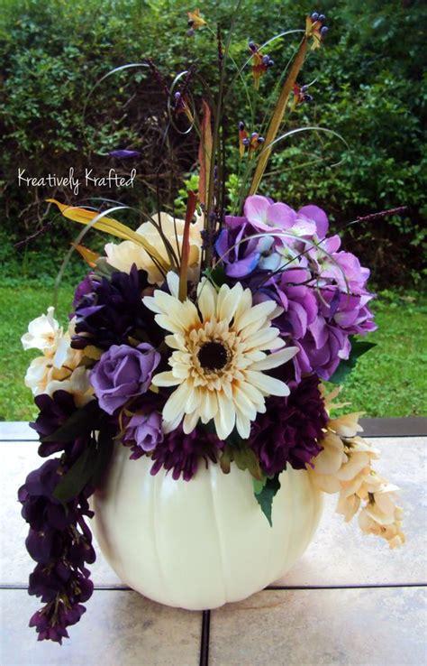 white pumpkin filled  plum purple cream colored