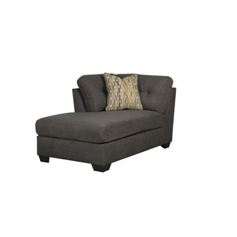 furniture delta city left arm chaise lounge in