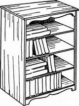 Shelves Drawing Shelf Standing Coloring Drawings Rack Getdrawings Procedure sketch template