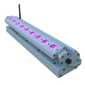 9pcsx15w rgbwa powered battery led bar wash light