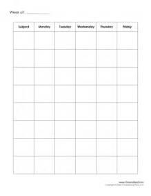 Free Printable Weekly Schedule Template