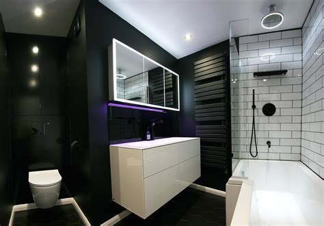Modern Family Bathroom Ideas by Family Bathroom Renovation Black White Modern Luxury