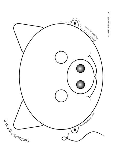 printable pig mask coloring page woo jr kids activities
