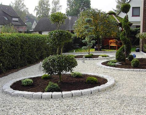 Gartengestaltung Mit Kies Und Steinen Modern