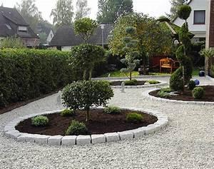 Gartengestaltung Mit Steinen : gartengestaltung mit kies und steinen modern gartengestaltung modern kies kunstrasen garten ~ Watch28wear.com Haus und Dekorationen