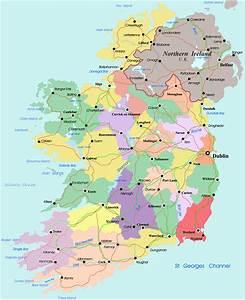 Ireland Political Regional Map