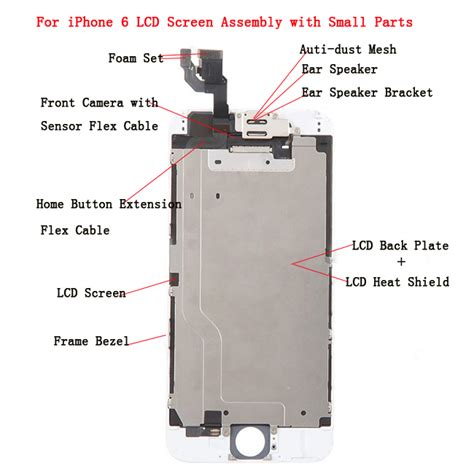 iphone 5s parts diagram front lcd screen touch panel combo for iphone 6 black