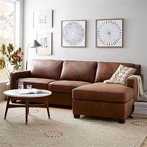 build your own henryr leather sectional pieces west elm With henry leather sectional sofa