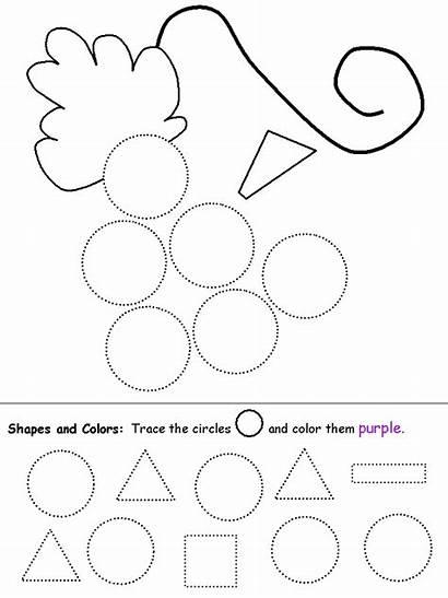 Circle Preschool Worksheets Shapes Shape Circles Grapes