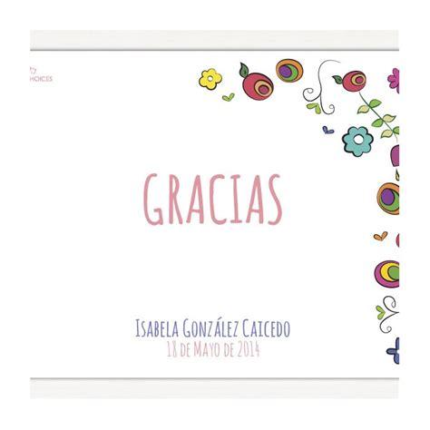 tarjeta de agradecimientos tarjetas de agradecimiento para primera comunión corazón