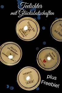 Teelichter Selber Machen : diy teelichter mit gl cksbotschaft freebie teelichter diy kindergeschenke und kleine ~ A.2002-acura-tl-radio.info Haus und Dekorationen