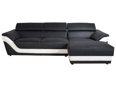 photos canapé noir et blanc conforama