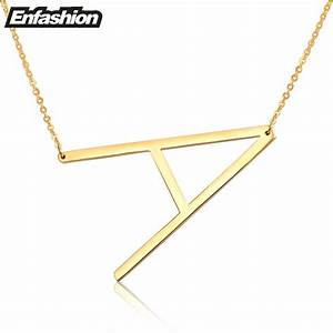 fashion letter necklaces pendants alfabet initial necklace With gold letter choker