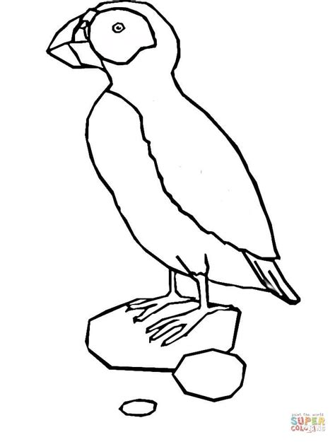 Kleurplaat Papegaaiduiker by Puffin Coloring Pages