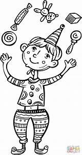 Coloring Juggling Boy Cartoon Drawing Clip Clipart Boys Printable Walking Crafts Ball Jacks Getdrawings Categories sketch template