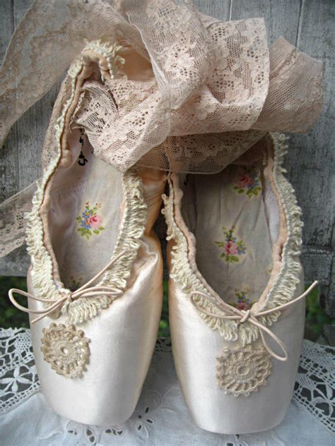 altered ballet pointetoe shoes distressed vintage french