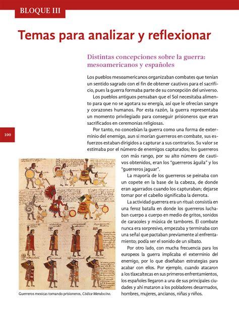 Historia lección anterior página anterior. Historia Cuarto grado 2020-2021 - Página 100 de 193 ...
