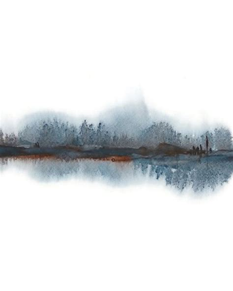 Abstract Black Watercolor by Modern Landscape Print Of Abstract Watercolor Painting