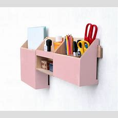 Pink Wall Organizer, Mail Organizer, Desk Accessories For
