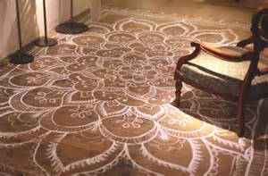 How To Protect Carpet From Furniture by Painted And Stenciled Floors Do It Yourself Discount