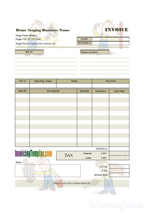 event planning invoice sample