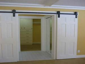 Residential barn door hardware, interior residential