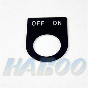22mm Installation Diameter Label Black With On Off Label