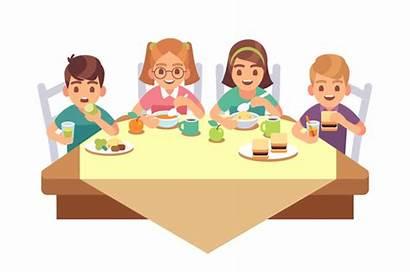 Eating Eat Dinner Together Children Child Restaurant