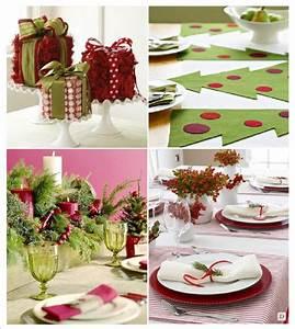 Decoration Table Noel Centre De Table Paquet Cadeau Set De