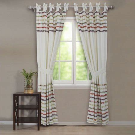 multi colored curtains greenland home fashions multi colored cotton ruffle