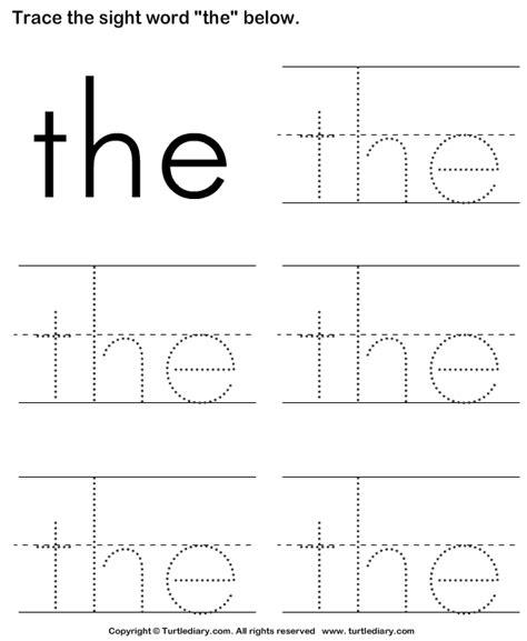 print turtle diarys sight word  tracing