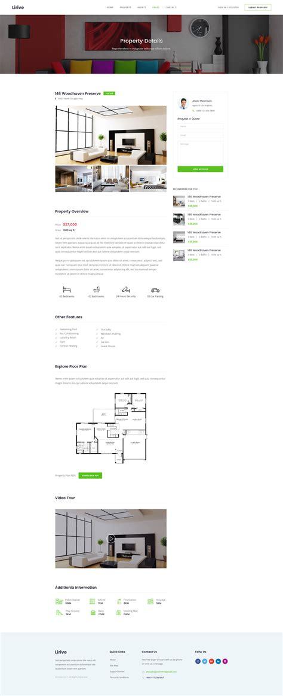 lirive real estate html template by themecraze themeforest