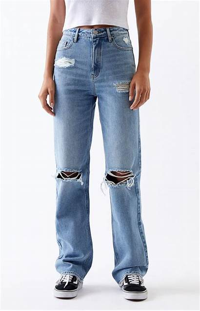 Jeans Boyfriend Pacsun 90s Ripped Denim Try