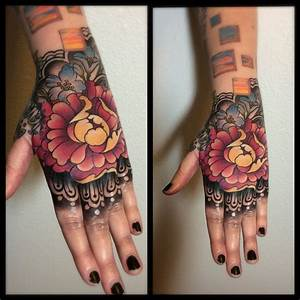 Laurajadepeony Hand Tattoo Flowers Floral Peony Hand