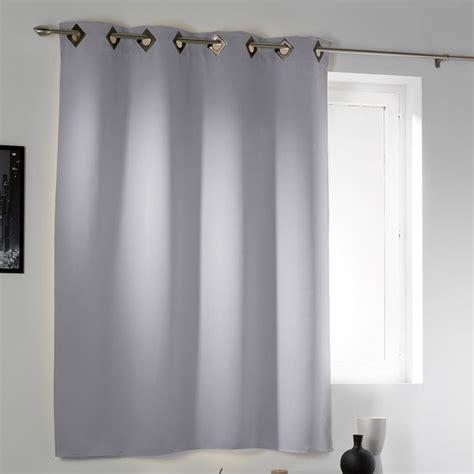 moquette chambre rideau œillets occultant court gris clair décor discount