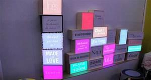 Boite Lumineuse Message : la boite lumineuse d co dada light deco cool ~ Teatrodelosmanantiales.com Idées de Décoration