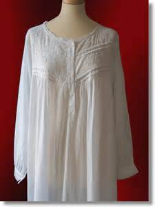 Ladies White Cotton Nightgown