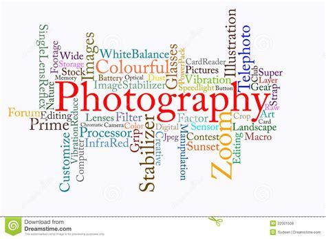 Photography Text Cloud Royalty Free Stock Photos Image