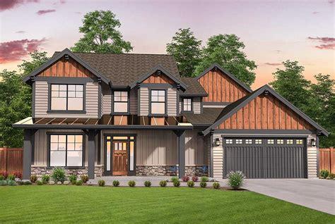 flexible craftsman lodge home plan   master suites ms architectural designs