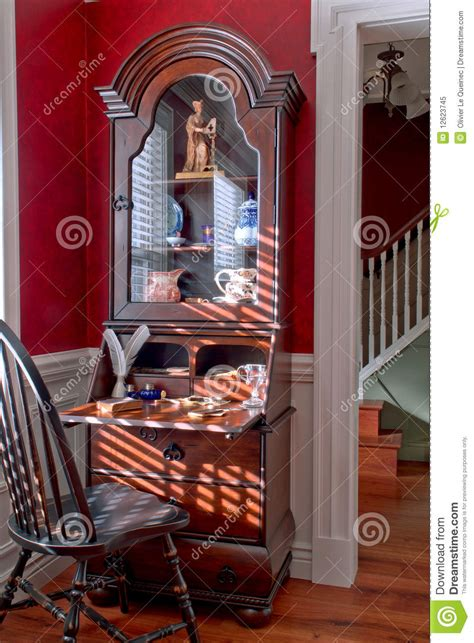colonial american style antique house interior stock image image