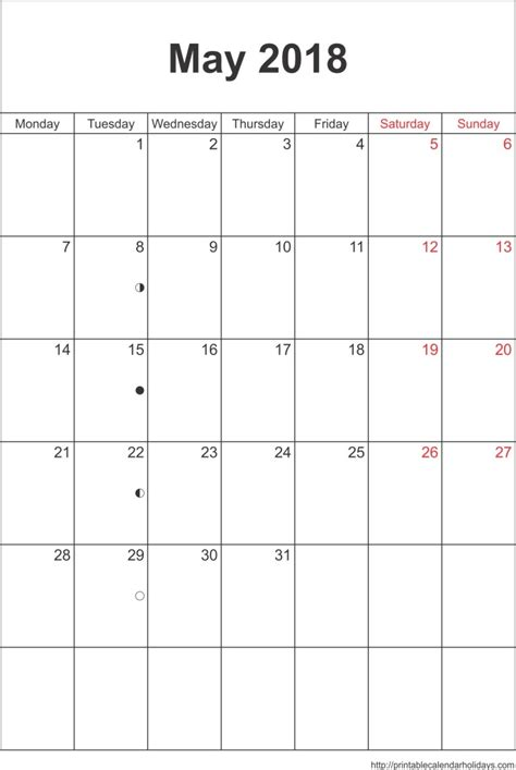 calendar template portrait printable