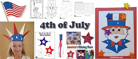 4th of july preschool kindergarten and daycare crafts 878 | 4th July activities crafts