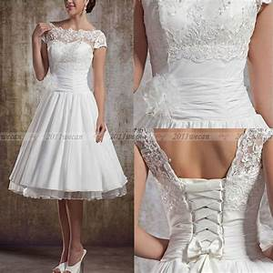 new white ivory vintage lace short wedding dresses size 4 With short ivory wedding dresses