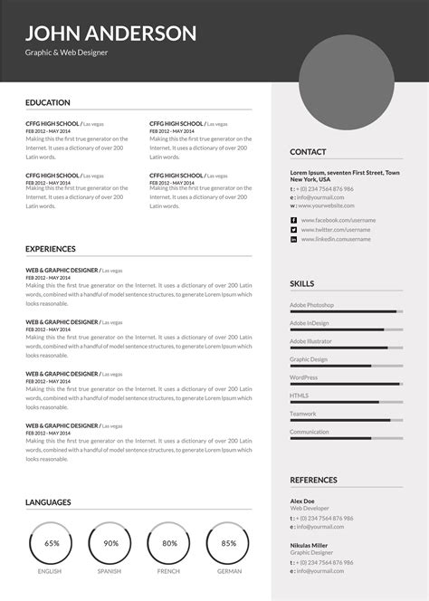 Resume And Cv Templates by Premium Professional Resume And Cv Templates