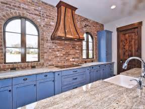 Weathered Wood Cabinets by 47 Brick Kitchen Design Ideas Tile Backsplash Amp Accent