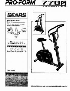 Proform 831288250 User Manual 770s Bike Manuals And Guides